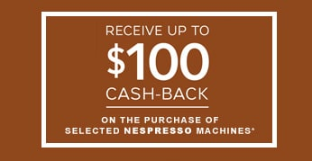 Nespresso cash back offers