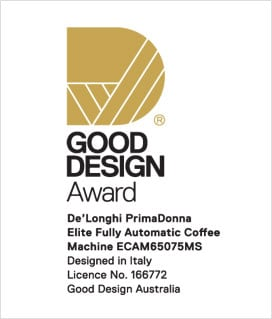 Delonghi PrimaDonna Elite won at the Good Design Awards