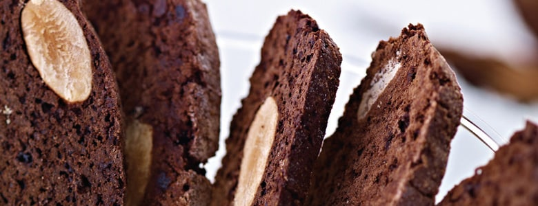 Chocolate, Ginger and Almond Biscotti