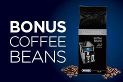 Receive up bonus coffee beans with purchase of selected coffee machines