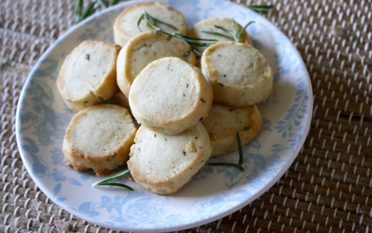 Savory Lemon-Rosemary Shortbread Cookies