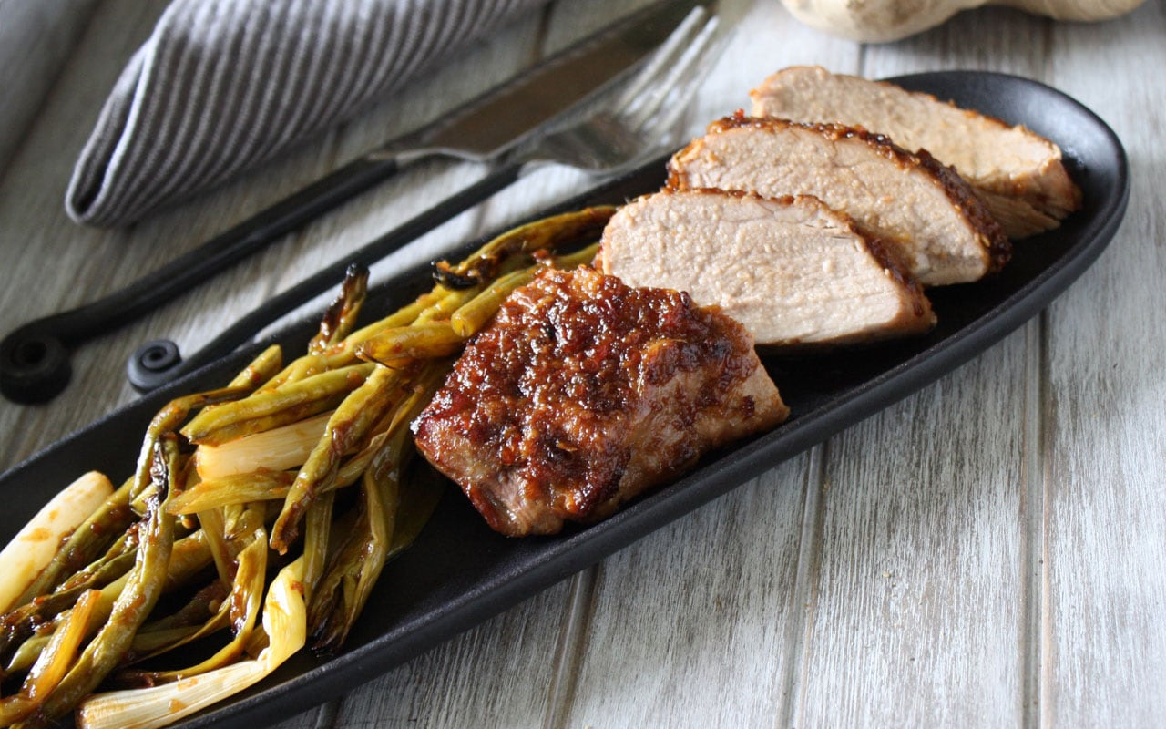Roasted Pork and Green Beans