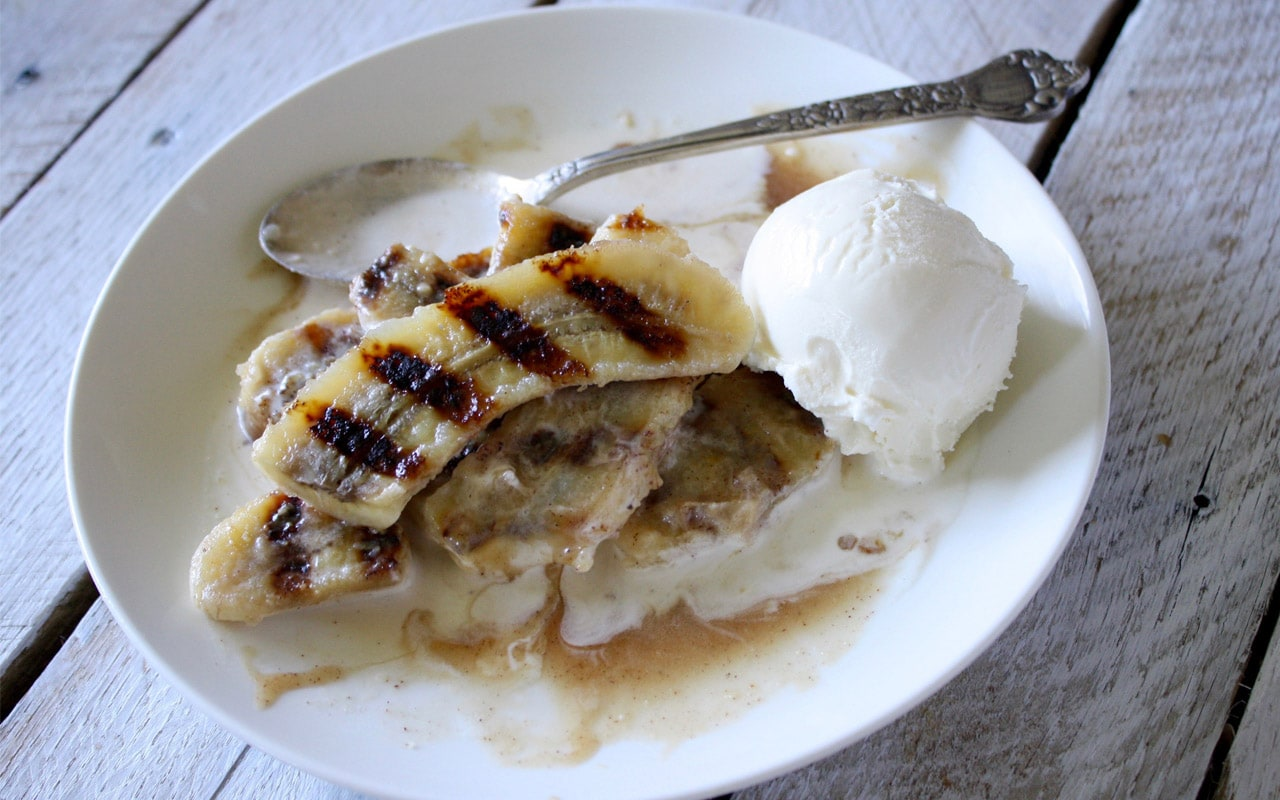 Bananas Foster with Butter Rum Sauce