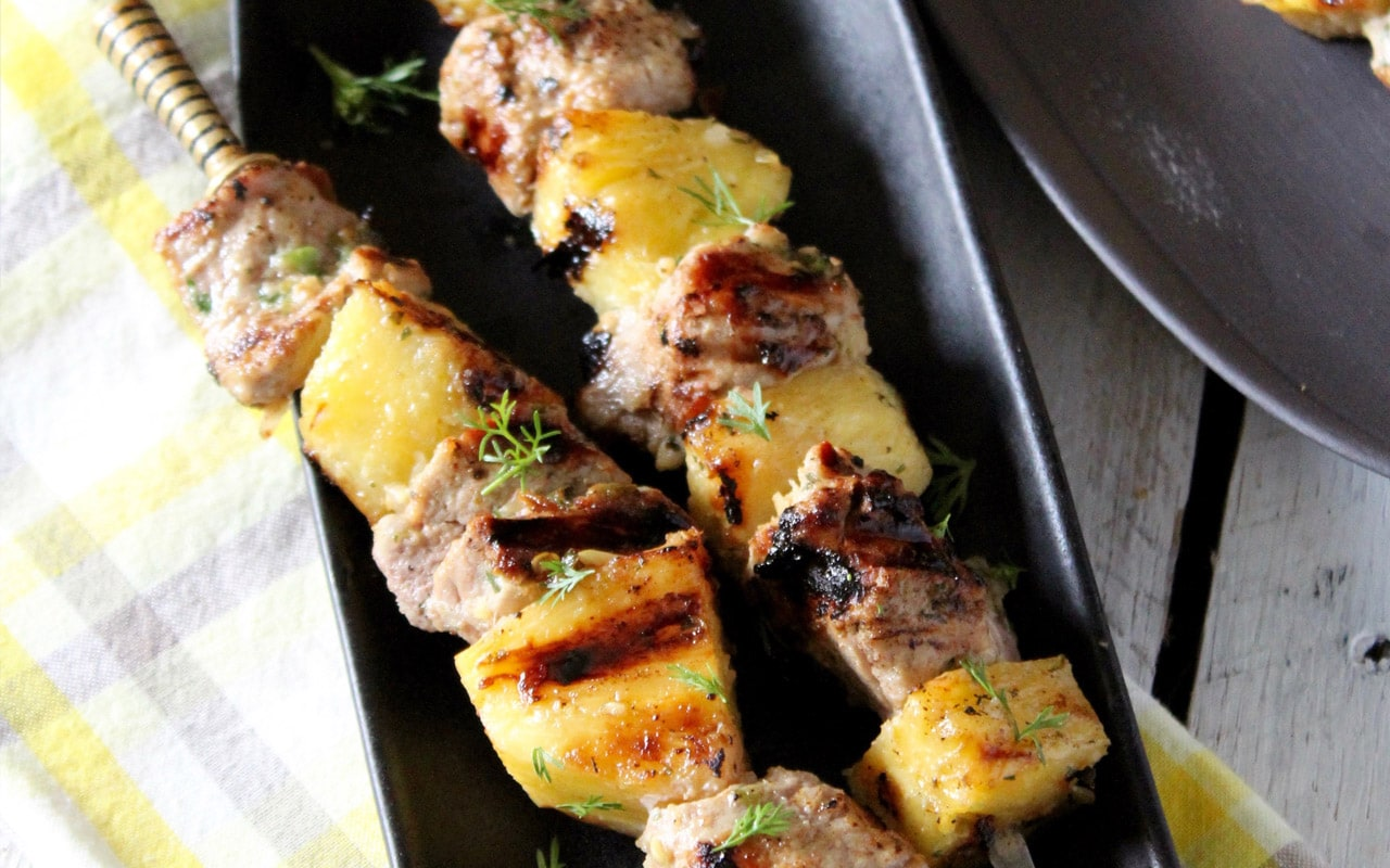 Thai Pork and Pineapple Kebabs