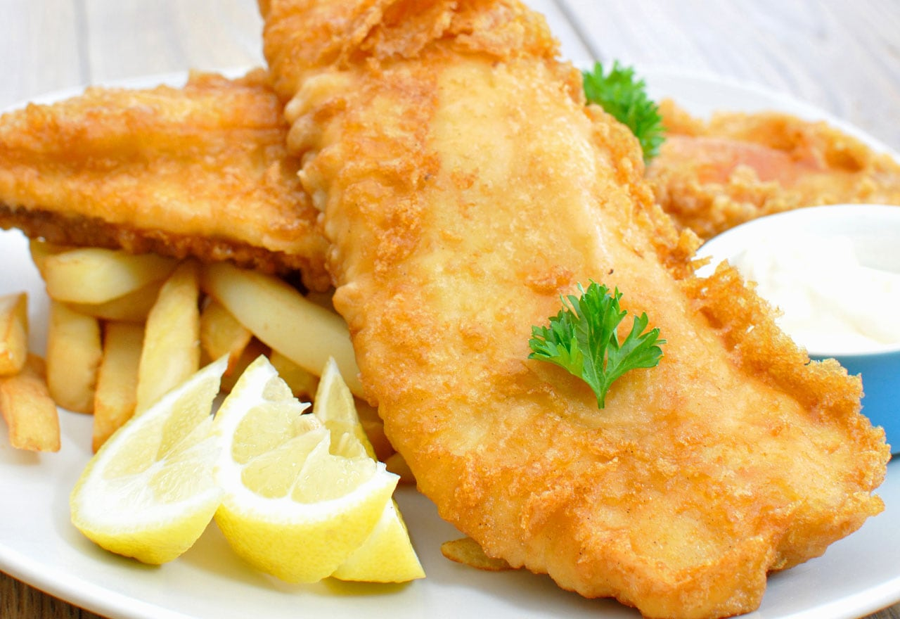 Fish and chips multifry recipes delonghi new zealand for Air fryer fish and chips