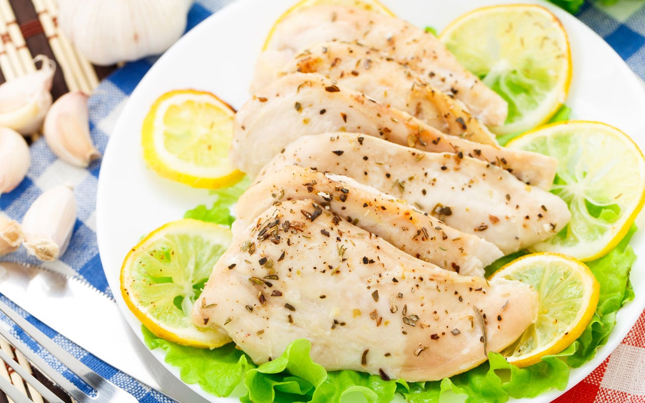 chicken breast with thyme and lemon