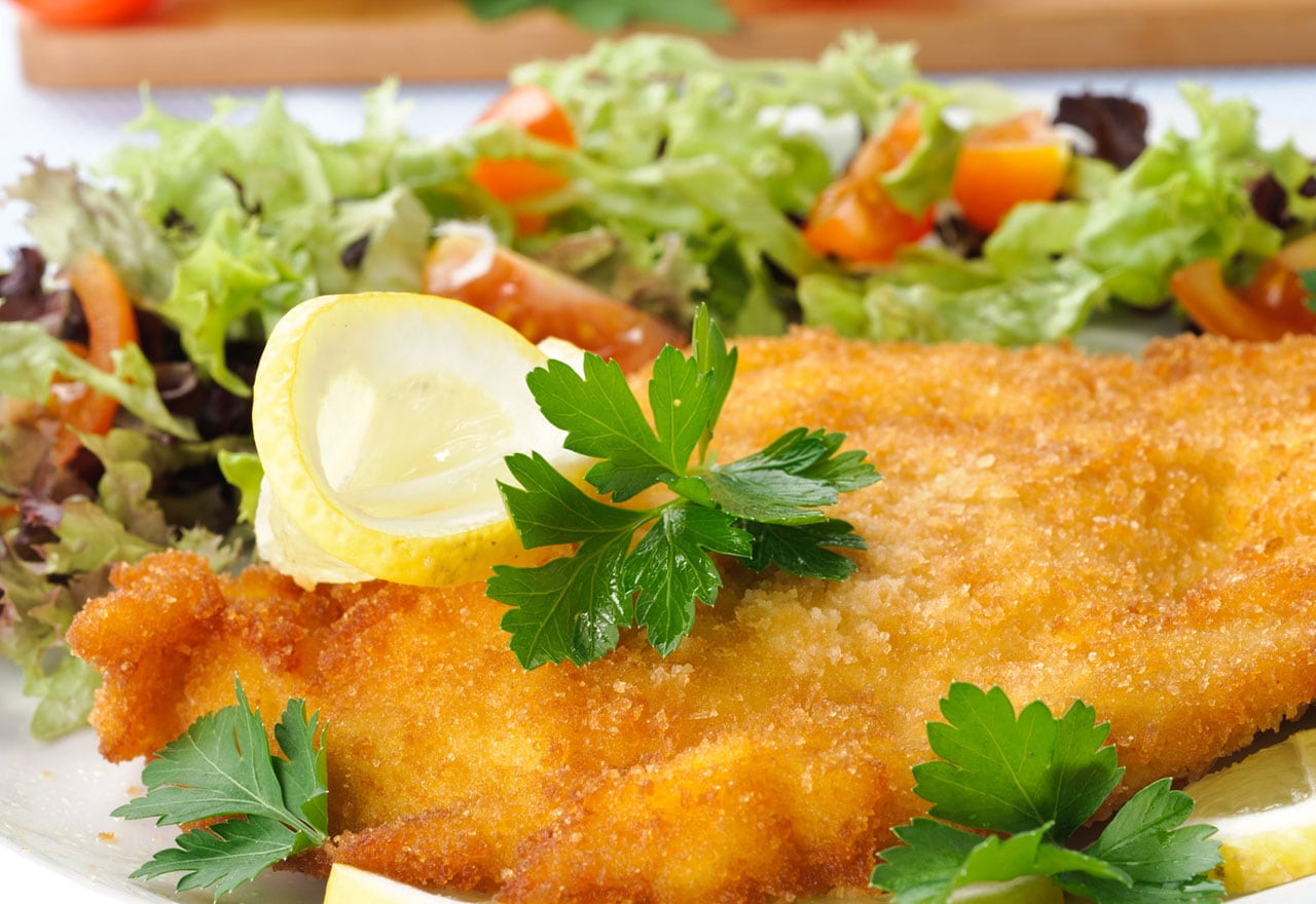Breaded chicken cutlet