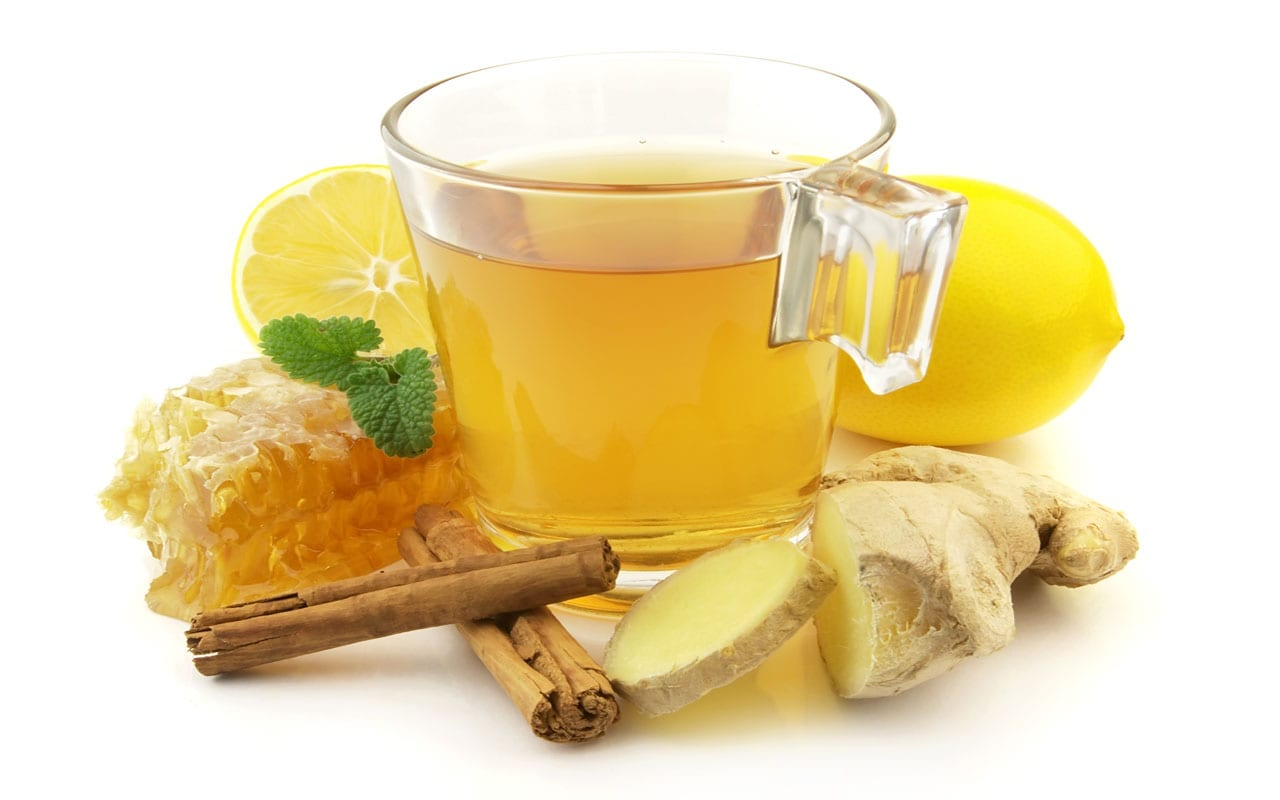 Honey and ginger infusion