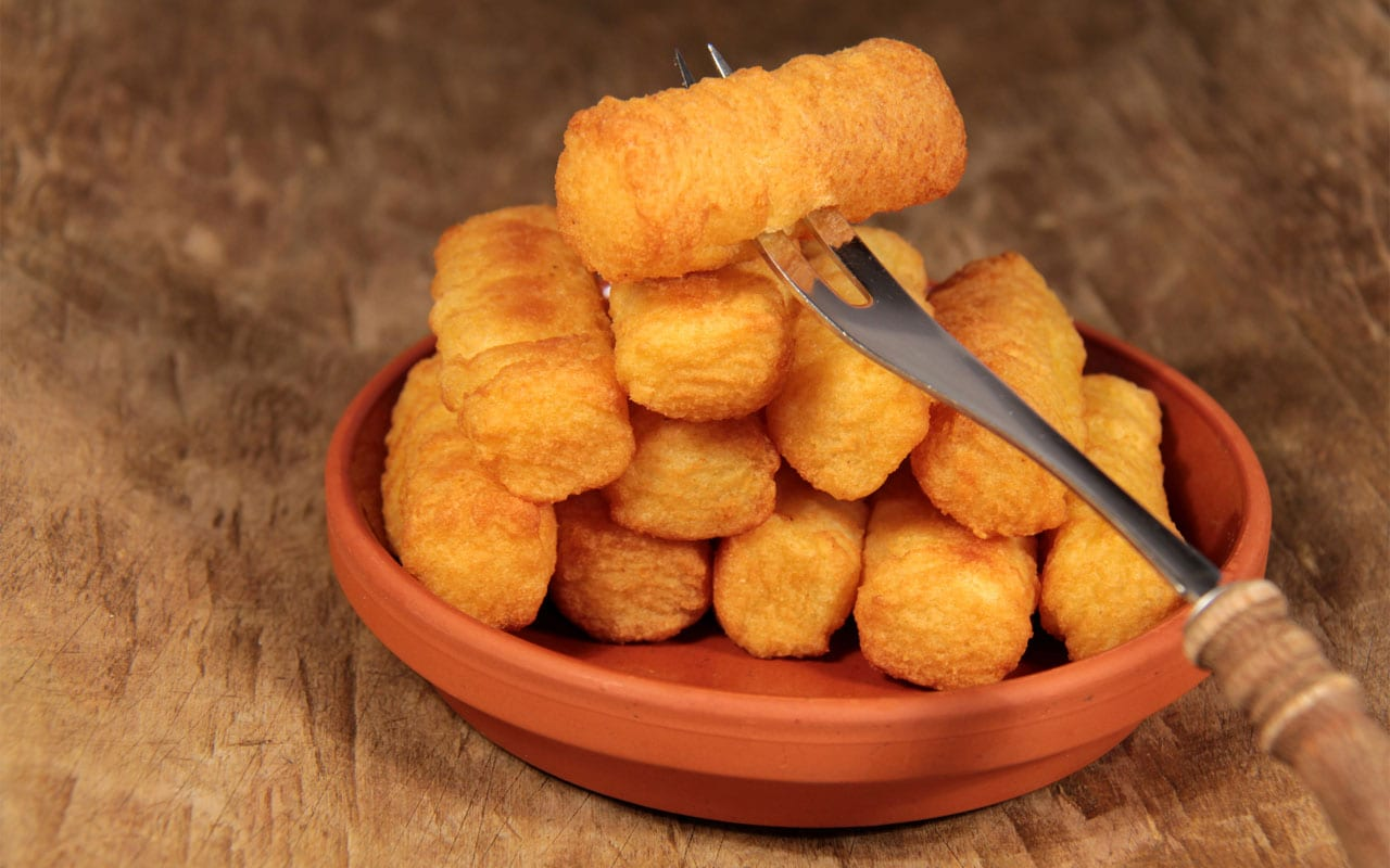 Frozen potato croquettes