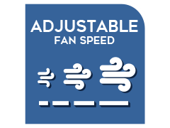Adjustable airflow speed