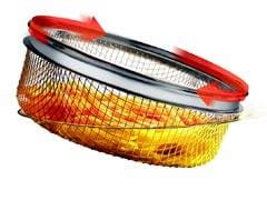 PATENTED ANGLED ROTATING BASKET