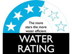 3.5 Star WELS Water Rating