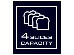 4 SLICES CAPACITY