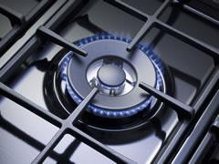5 Burner Black Enamelled Cooktop