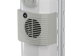 INCREASED HEATING  POWER WITH  THE ADDITIONAL POWER OF THE FAN HEATER