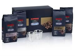 Kimbo Espresso Italiano 4 x coffee and 2 espresso glasses