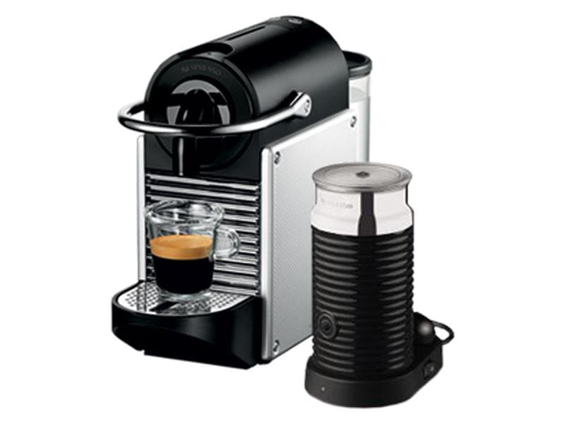 nespresso pixie espresso machine w aeroccino aluminum de. Black Bedroom Furniture Sets. Home Design Ideas