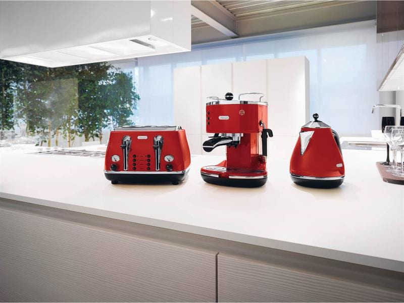 Icona Manual Espresso Machine - Red - ECO 310.R