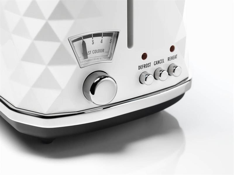 Brillante 2 Slice Toaster - White - CTJ 2003.W