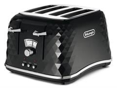 Brillante Black 4 slice toaster - CTJ4003BK