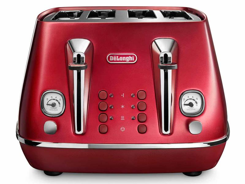 DeLonghi Distinta Flair 4 Slice Toaster Glamour Red CTI4003R