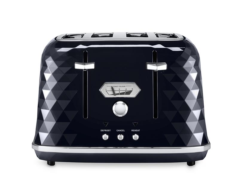 Brillante Exclusive CTJX4003.BK ​Black Gloss 4 Slice Toaster