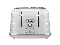 Brillante Exclusive CTJX4003.W ​White Gloss 4 Slice Toaster