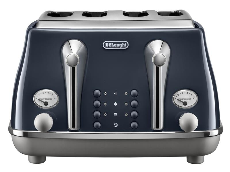 DeLonghi Icona Capitals 4 Slice Toaster - London Blue CTOC 4003.BL