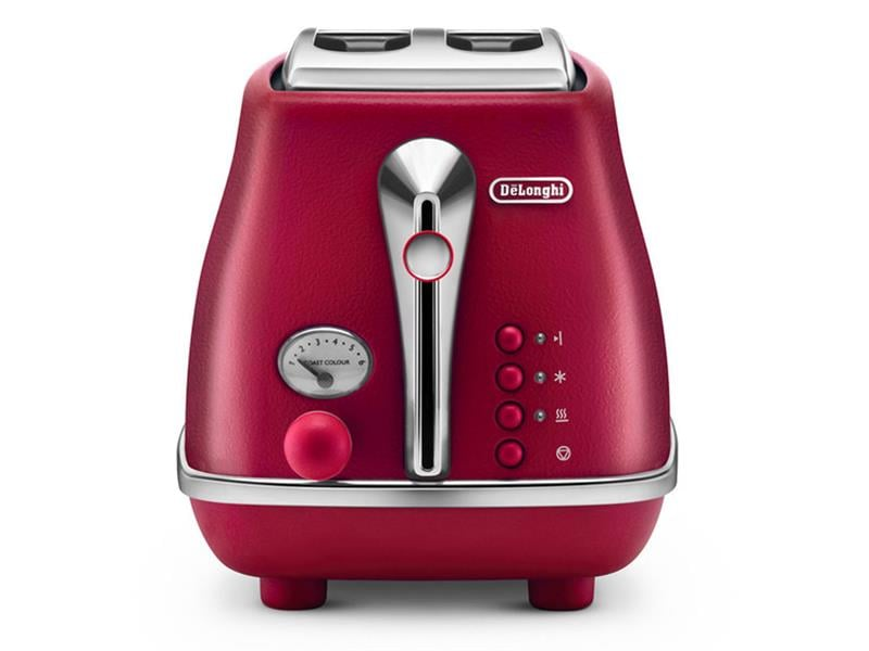 DeLonghi Icona Elements 2 Slice Toaster Flame Red CTOE2003R