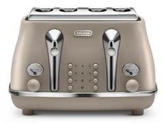 Icona Elements 4 Slice Toaster - Desert Beige CTOE 4003.BG