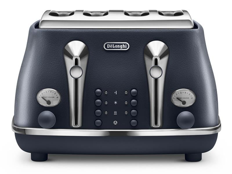 Icona Elements 4 Slice Toaster - Ocean Blue CTOE 4003.BL