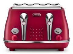 Icona Elements 4 Slice Toaster - Flame Red CTOE 4003.R