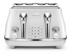 Icona Elements 4 Slice Toaster - Cloud White CTOE 4003.W
