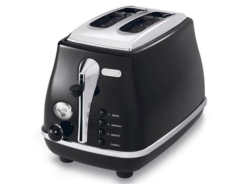 Icona Black 2 Slice Toaster - CTO2003BK