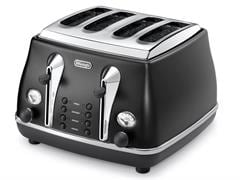 DeLonghi Icona Black 4 Slice Toaster CTO4003BK
