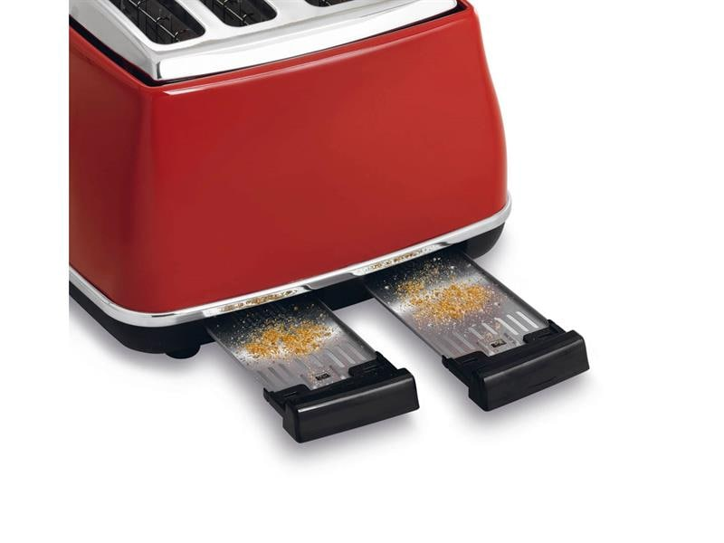 Icona 4 Slice Toaster - Red