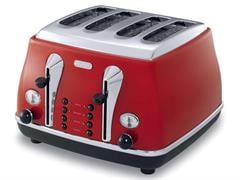 DeLonghi Icona Red 4 Slice Toaster CTO4003R