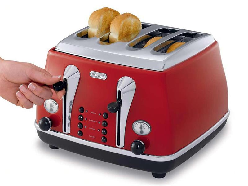 Icona 4 Slice Toaster - Red - CTO 4003.R