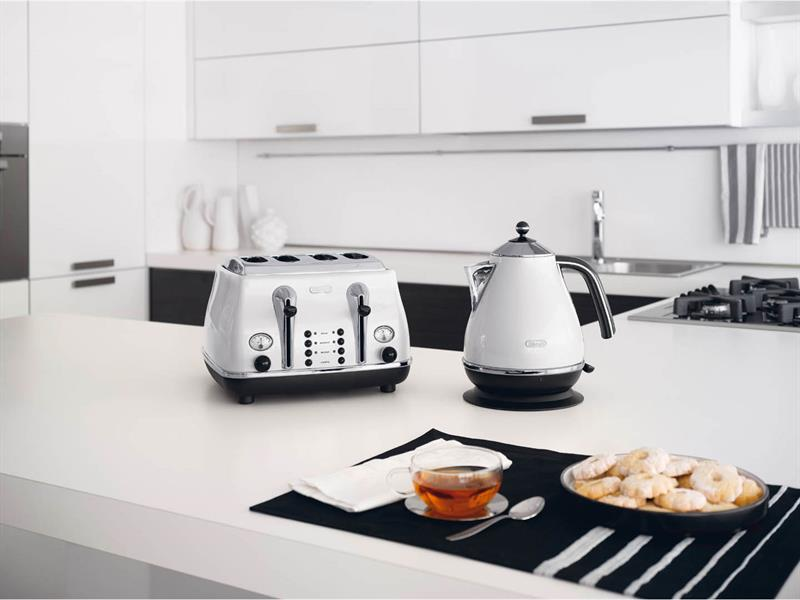 Icona 4 Slice Toaster - White