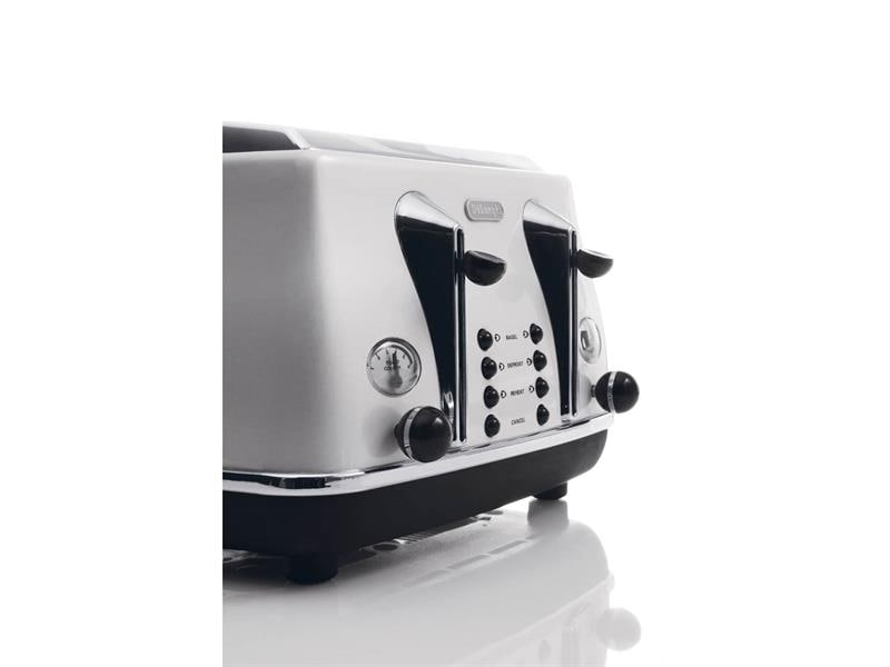 Icona 4 Slice Toaster - White - CTO 4003.W