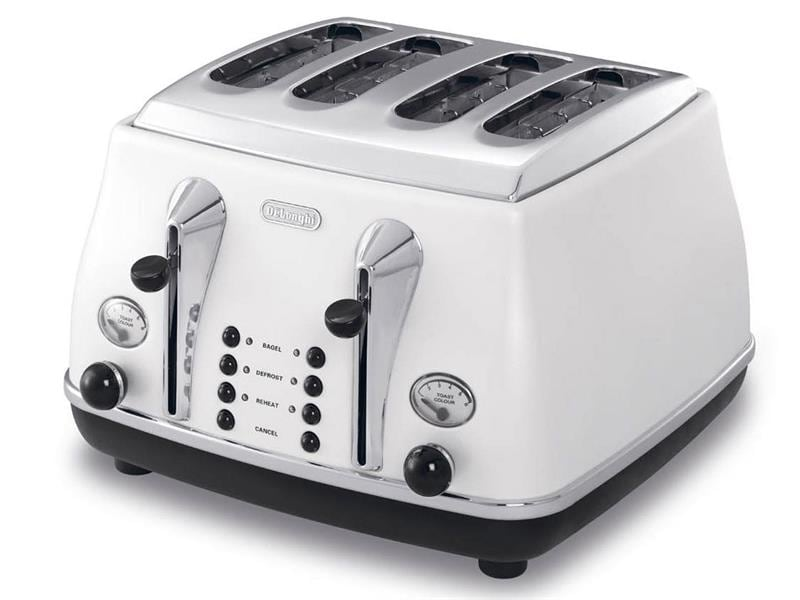 Icona 4 Slice Toaster - White CTO4003W