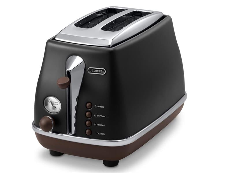 Icona Vintage 2 Slice Toaster - Black