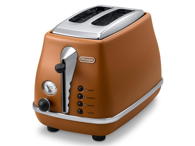 Icona Vintage Brown 2 Slice Toaster - CTOV2003BW