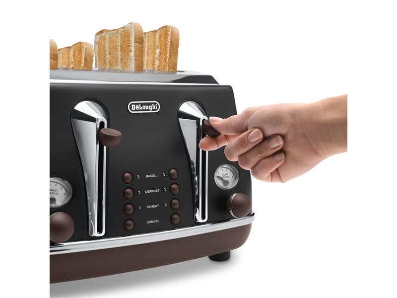 Icona Vintage 4 Slice Toaster - Black