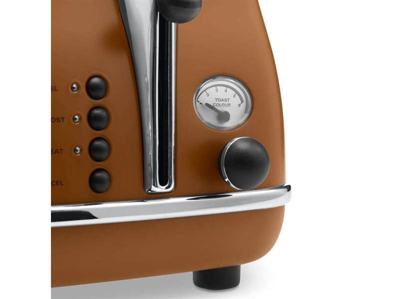 Icona Vintage 4 Slice Toaster - Brown - CTOV 4003.BW