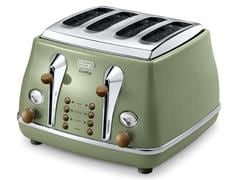 Icona Vintage 4 Slice Toaster - Green