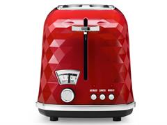 Brillante 2 Sllice Toaster - Red CTJ 2003.R