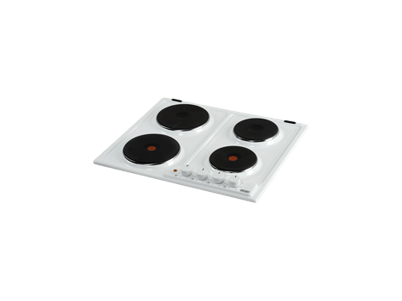 Electric 4 zone Cooktop - 60cm - White DEH60W