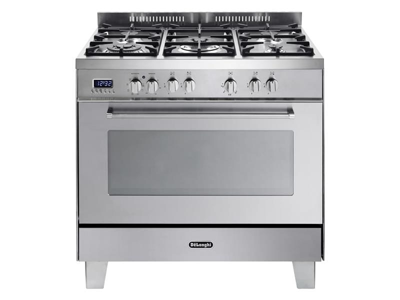 Freestanding 90cm Stainless Steel Dual Fuel Cooker - DEFP907S