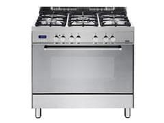 Freestanding Oven with Gas Cooktop and Wok Burner DEF905GW1X1